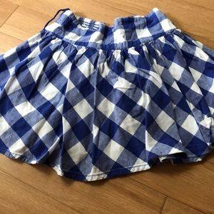 Sweet little blue plaid lightweight skirt 4/5